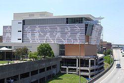 The Muhammad Ali Center , alongside Interstate 64 on Louisville s