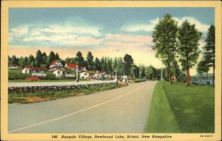 Bristol NH Newfound Lake Bungalo Village Postcard