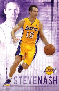 Nash Poster Focus 22x34 Los Angeles Lakers NBA Basketball 5900