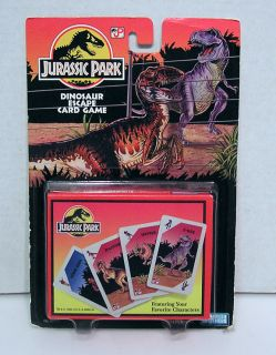 1993 Jurassic Park Dinosaur Escape Card Game 60 Cards Rules
