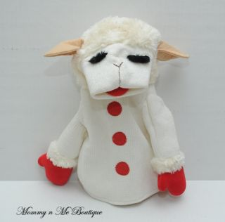 Shari Lewis Lamb Chop Plush Lamb Puppet Toy Aurora