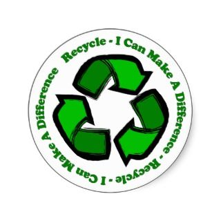 Recycle I Can Make A Difference Sticker