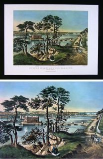 Print Staten Island and The Narrows Fort Hamilton New York City