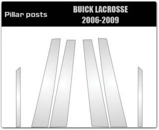 04 09 Buick Lacrosse Black B Pillar Door Covers Post Window Trim