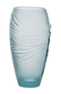 New Lalique Dragonfly Crystal 7 1 2 Vase Ocean Blue Libellule Dragon