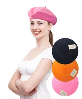 Ladys Solid Colors Wool Beret in 27 Colors WH4010