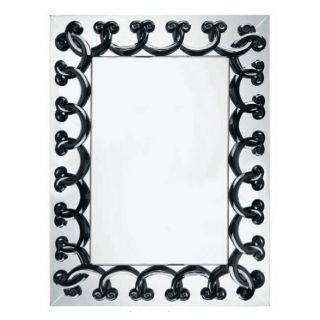 40 000 Lalique Black Rinceaux 51 x 34 Full Length Celebrity Mirror