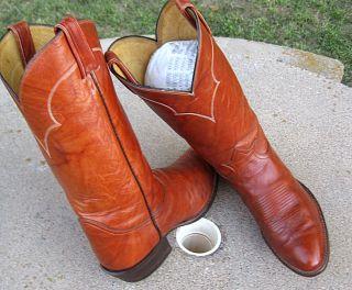 Tony Lama Cowboy Western Boots Mens 9E