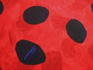 Andover Grouchy Ladybug Red Black Dot Eric Carle Fabric