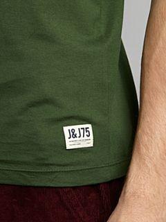Jack & Jones Short sleeved `colouradical` graphic T shirt Khaki