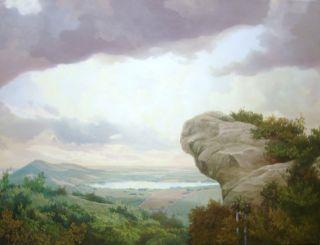 Pelaez Landscape Cuban Art Puerto Rico Painting $3500