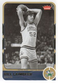 2011 12 Fleer Retro 19 Bill Laimbeer Notre Dame Fighting Irish