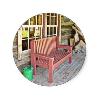 Front Porch Bench and Watering Can Sticker