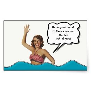 Obama Scares the Pinup Girl Stickers