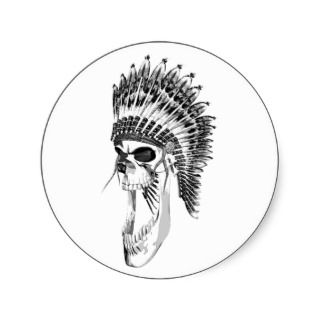 Screaming Indian Chief Sticker