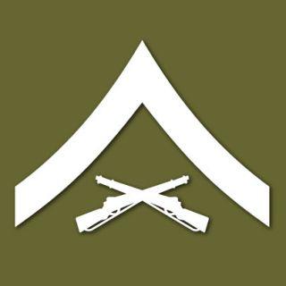 USMC E 3 Lance Corporal Insignia Vinyl Sticker VLMCE3