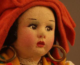 Vintage Italy Dolls Felt Mask Face Lenci Type 10 Eros 7
