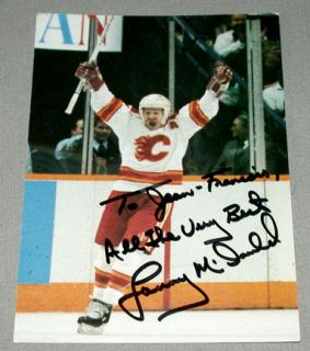 Lanny McDonald Calgary Flames Signed NHL Hockey Postcard 2
