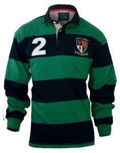 Lansdowne Irish Sage and Navy Heritage Rugby Shirt
