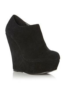 Steve Madden Presure Sm Platform Wedge Ankle Boots Black