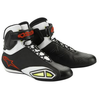 Alpinestars Fast Lane Shoes Black White Red 10 5 New