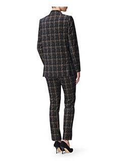 Jaeger Velvet tweed blazer Multi Coloured