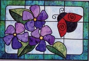Ladybugs Garden Stained Glass Bear Paw Productions Quilt Pattern