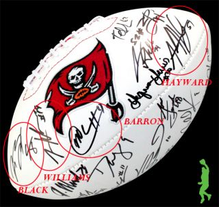 2012 Tampa Bay Buccaneers Bucs Team Signed Football Ball Mike Williams