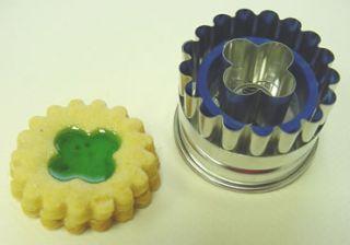 Kaiser Bakeware Linzer Fluted Clover Cookie Cutter
