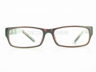 Soho 85 Eyeglasses Frame Plastic Modern Large Brown
