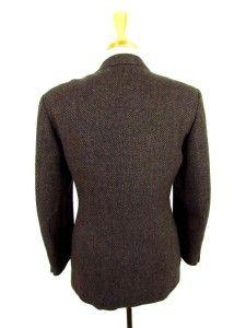 brown black WOOL MOHAIR jacket blazer TED LAPIDUS sport coat L 44 54 R