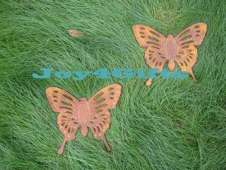 Cast Iron Butterfly Design Stepping Stones   Metal Garden & Yard Decor