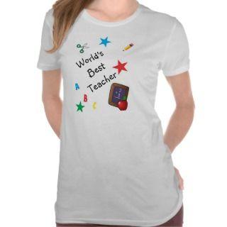 Worlds Best Kindergarten Teacher Cute Cartoon T shirt