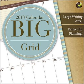 Big Grid 2013 Wall Calendar