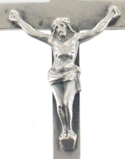 Antique Sterling Silver Large Crucifix Cross Pendant