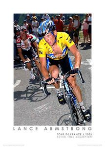 Lance Armstrong Byebye Basso 2005 Tour de France Poster