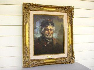 Vintage Laslo Kohanecz Sea Captain Painting Oil Seascape Signed