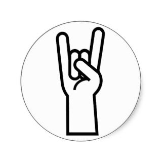 Rock & Roll Hand Symbol Sticker