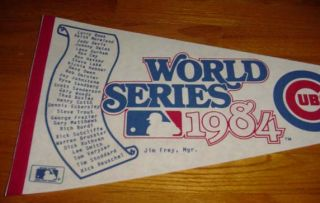 1984 Chicago Cubs World Series Pennant NL Champs