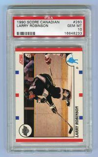 1990 Score Canadian #260 LARRY ROBINSON Los Angeles Kings PSA 10 GEM