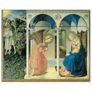 Fra Angelico   The Annunciation Holiday Ornament Acrylic Cut Out