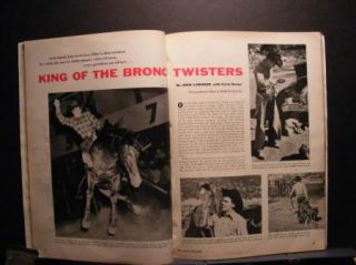 RARE Casey Tibbs True Magazine September 1956