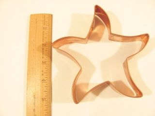 Copper Cookie Cutter Large Starfish Star Fish 5