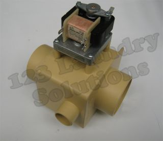 Ipso Front Load Washer Drain Valve 220V 3 WOF SHOR w/ Overflow 209