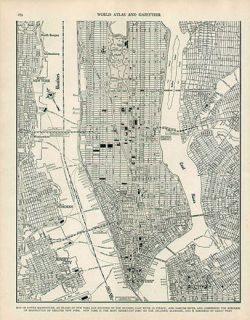 New York City 2 Authentic WW2 Vintage Maps Genuine 69 Years Old 1943