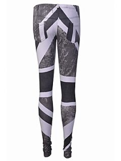 Religion Union jack print leggings Grey