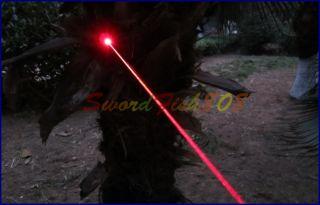 adjustable focusable Burning Red High Power Laser Pointer+salf Key