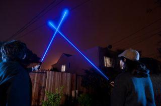 405nm Blue Violet Powerful Laser Pointer High Power Burning Adjustable