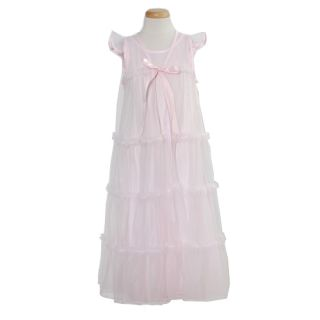 Laura Dare Toddler Girls Size 4T Pink Classic Cap Sleeve Nightgown