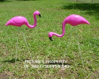 PC Hot Pink Flamingo Yard Lawn Ornaments Mini Flocking Flamingos